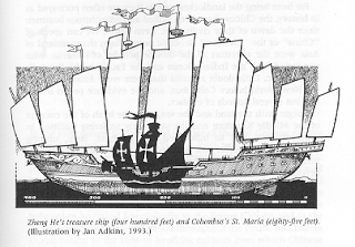Perbandingan antara kapal jung Cheng Ho (